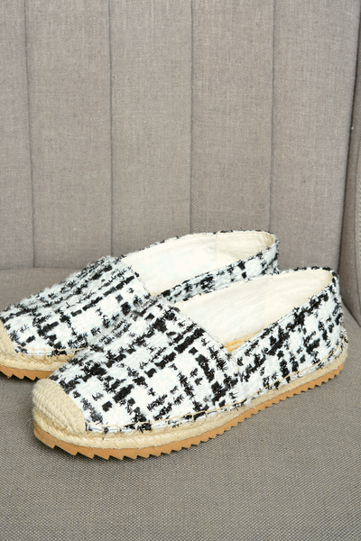 Karl Lagerfeld Women's Checkered Flat Espadrilles