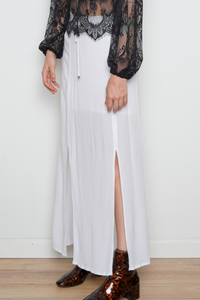 Splendid Maxi White Skirt