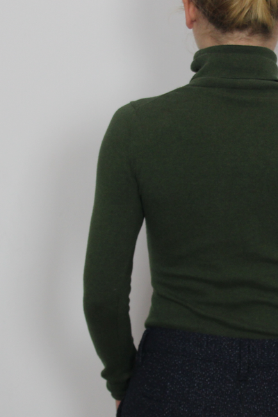 Forest green turtleneck
