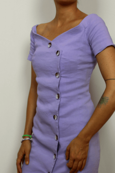 Pinko Dress In Lavender