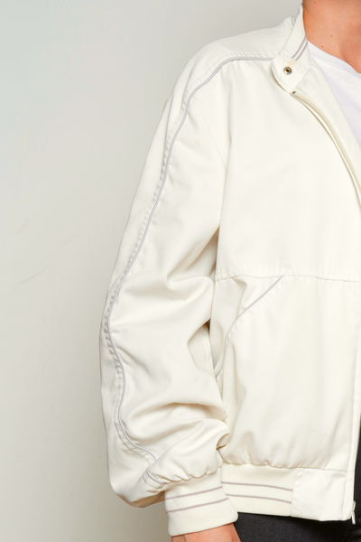 Peter England White Bomber Jacket
