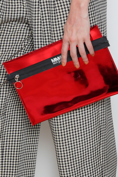 MM6 by Maison Martin Margiela Women's Red Metallic Clutch