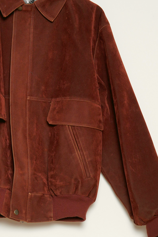 Gianni Versace brown suede jacket