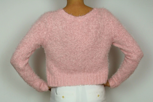 MOSSIMO supply fuzzy cropped sweater