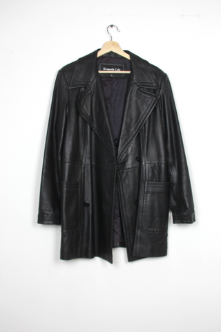 Kenneth Cole long leather trench