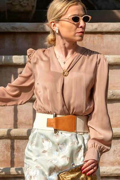 Ci Luce Blouse in Beige