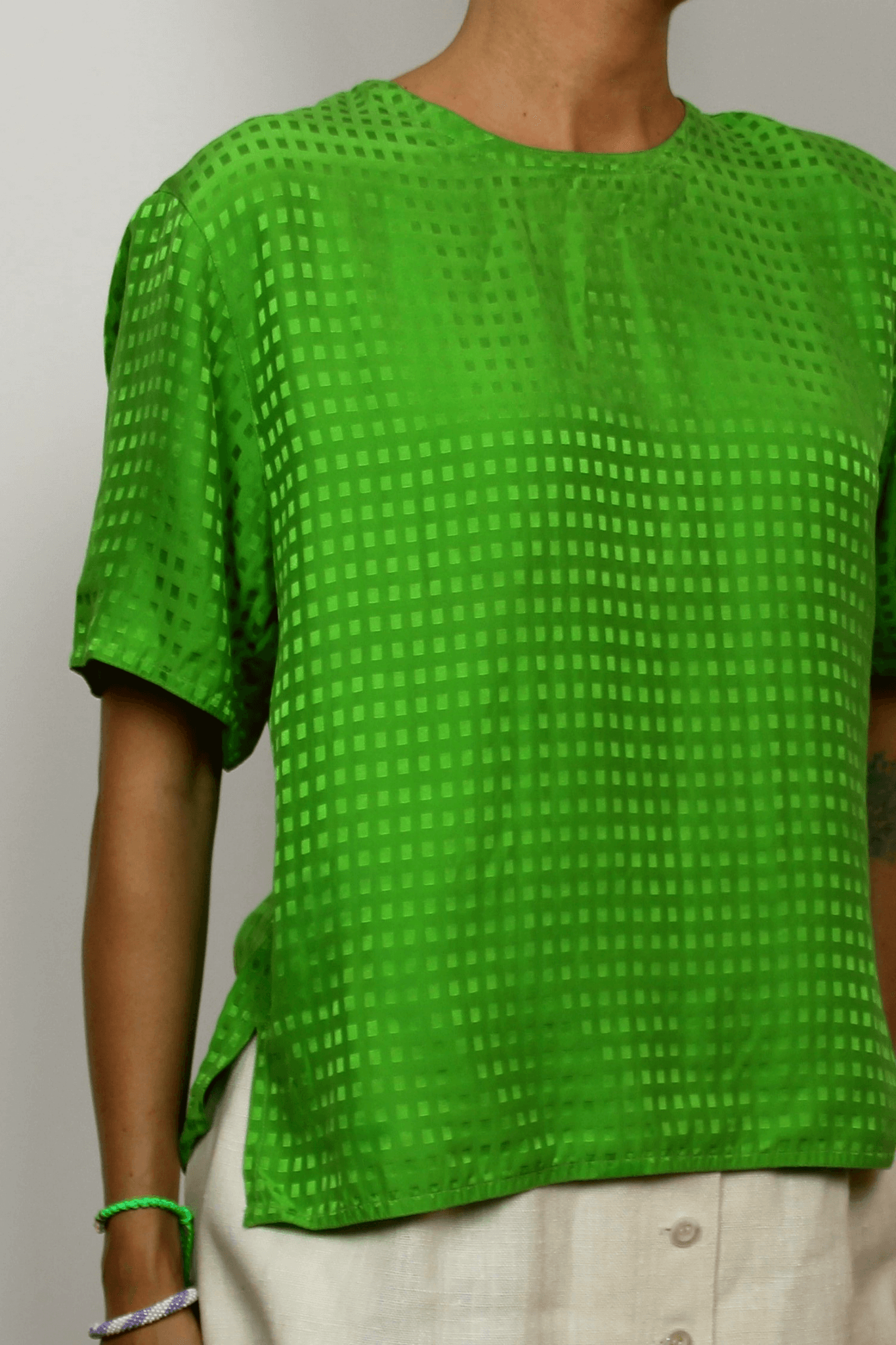 Pusan Marsh Silk Blouse In Green