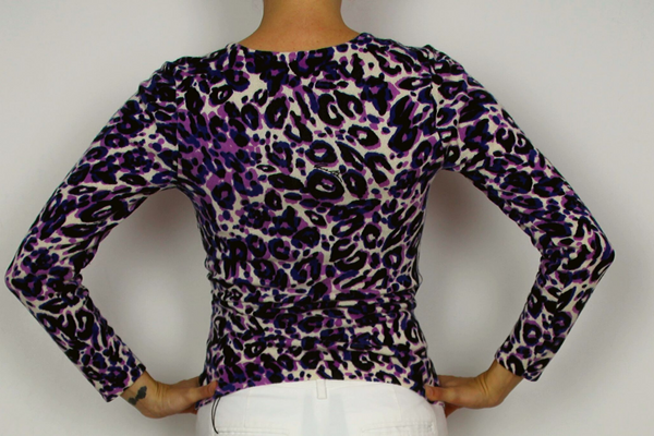 Anne Klein animal print wrap top