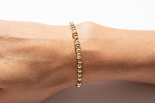 Load image into Gallery viewer, Small Gold Bracelet + Pavé Diamonds in 14k Gold (3)