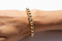 Load image into Gallery viewer, Large Gold Bracelet + Pavé Diamonds in 14k Gold (2 options)