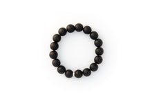 Load image into Gallery viewer, Black Onyx Beaded Bracelet With Pavé Diamonds Set in 14k Gold
