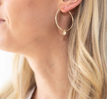 Load image into Gallery viewer, Small 3-in-1 Gold Hoop Earrings