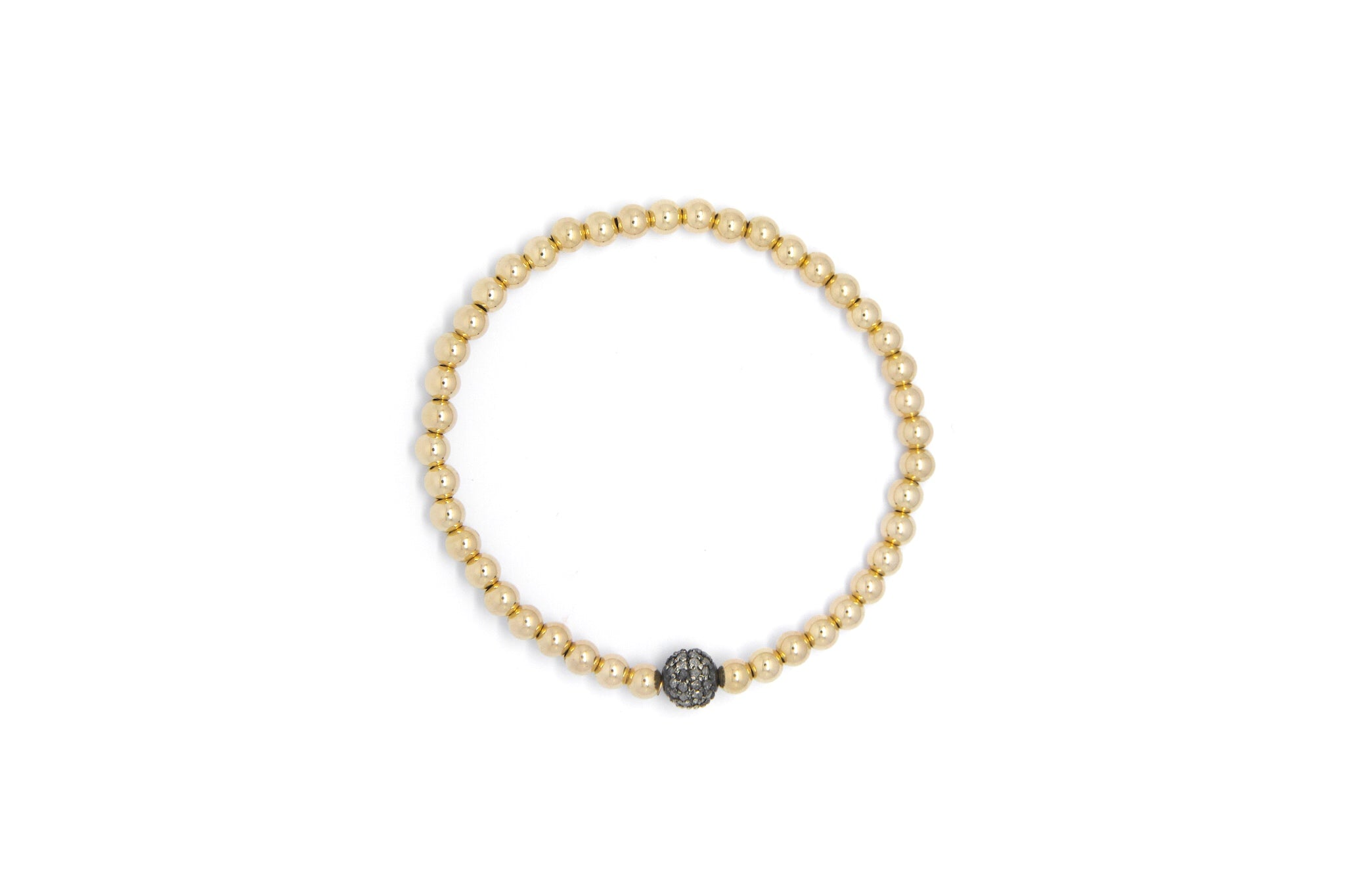 Small Gold Bracelet Diamond Ball Arm Candy By Kelly