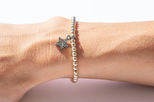 Small Gold Bracelet + Diamond Star