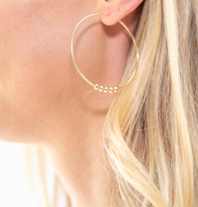 Large Gold Hoop Earrings + Details