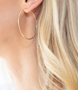 Large 3-in-1 Gold Hoop Earrings
