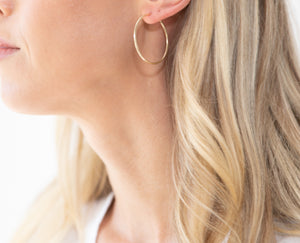 Small 3-in-1 Gold Hoop Earrings