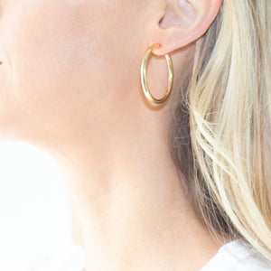 Medium Simple Gold Hoops