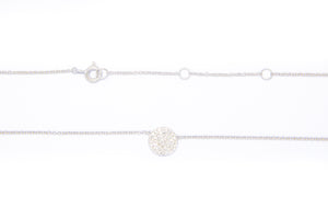 Diamond Disc Necklace 14k White Gold