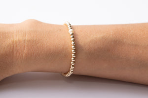 Small Gold Bracelet w/ Pearl Center