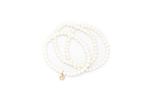 Load image into Gallery viewer, White Coral Set w/ 14k Gold Mini Charm