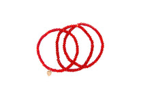 Load image into Gallery viewer, Red Coral Set w/ 14k Gold Mini Charm