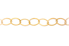 Load image into Gallery viewer, Extra Large Gold Oval Link Chain Necklace