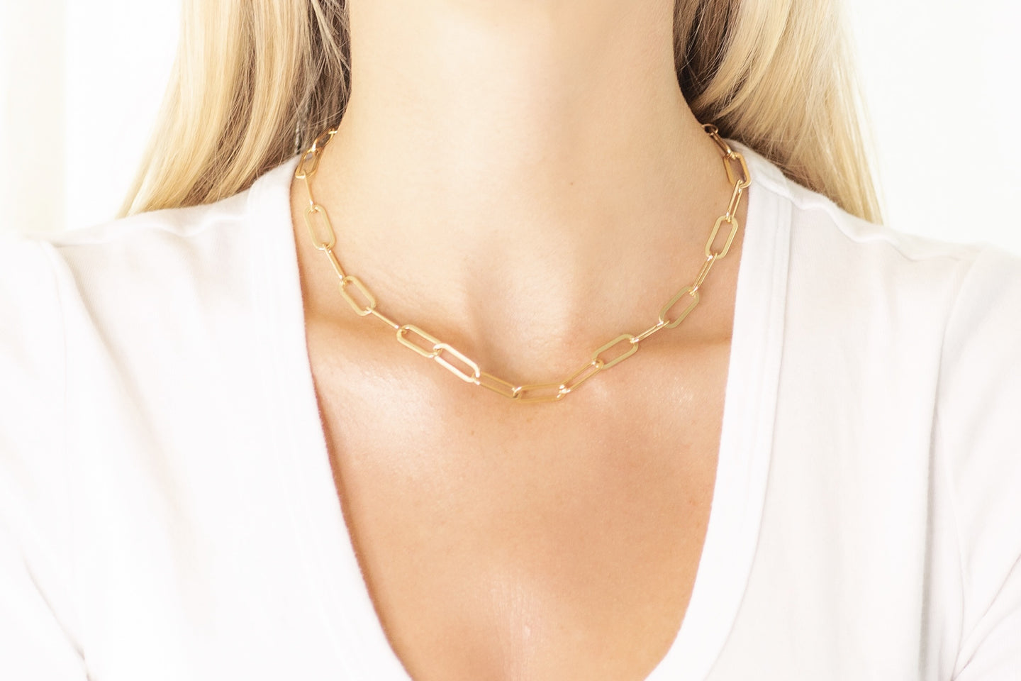 Large Oval Link Chain Necklace