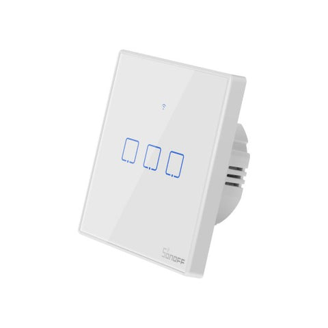 Sonoff Toeu TX Smart wifi white wall touch Switch with Smart home edge 3 Gang works with alexa IFTTT, google.