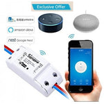 Sonoff wifi smart switch basic R2 with timer internet work with amazon alexa, google Home, Nest.