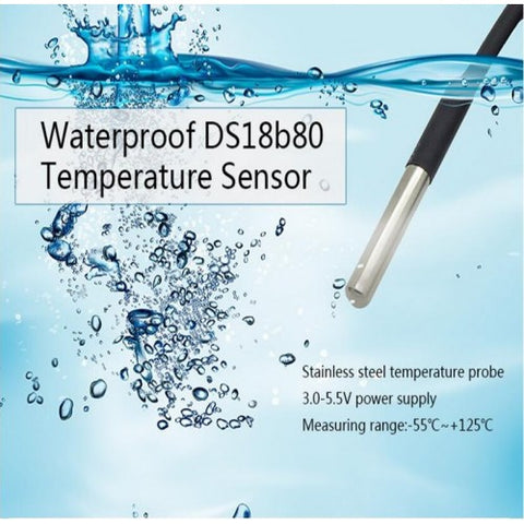 Waterproof DS18B20 Temperature sensor Temperature transmitter 1m