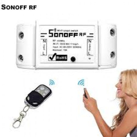 Sonoff wifi smart RF wireless switch work with Amazon, google home, Nest.