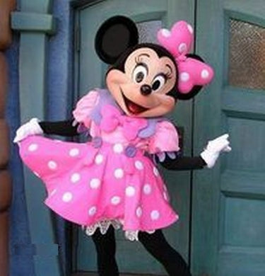 Mascotte Minnie rose