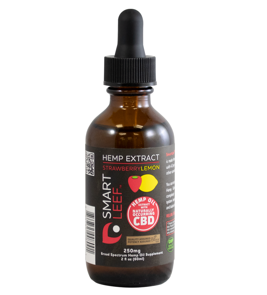 Hemp Extract Strawberry Lemon - 250mg Broad Spectrum Hemp Oil