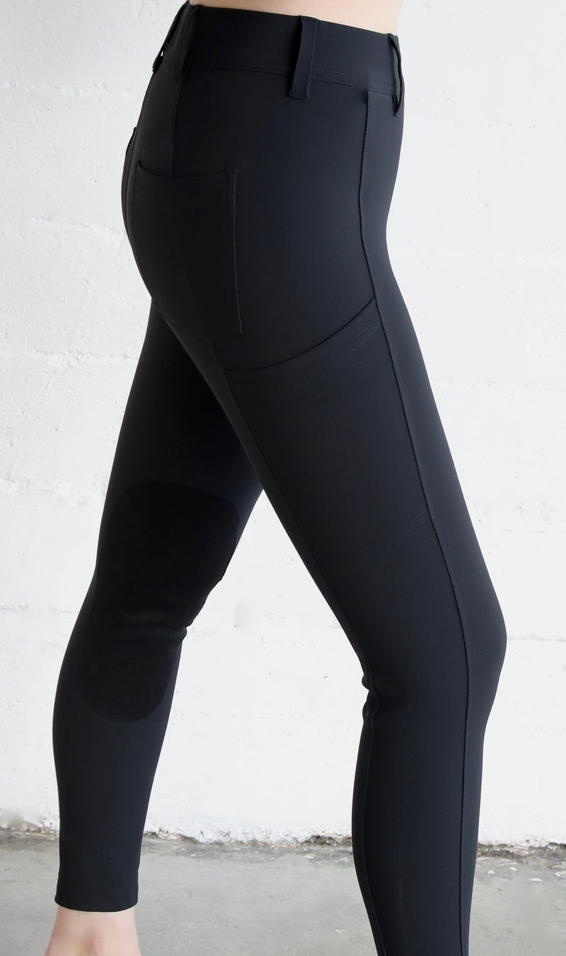 High Waisted Riding Tights Carbon