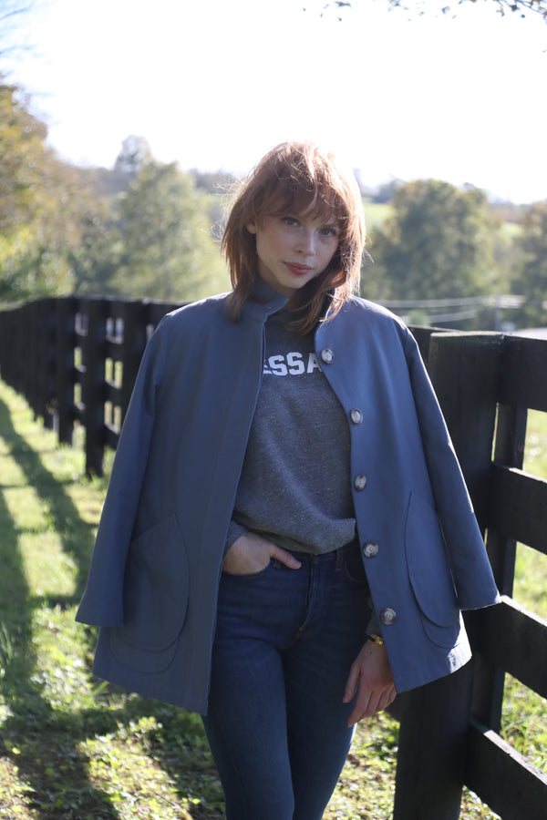 Modern Barn Jacket French Blue