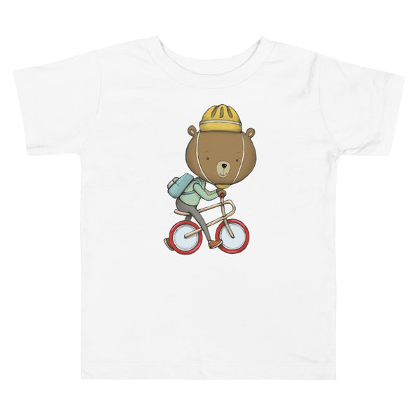 Brum Brum Bike Bear Toddler Short Sleeve Tee