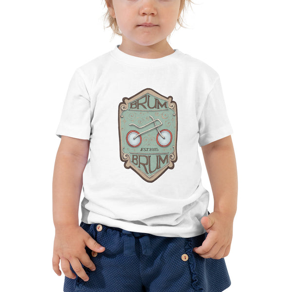 Brum Brum Bike Shield Toddler Short Sleeve Tee