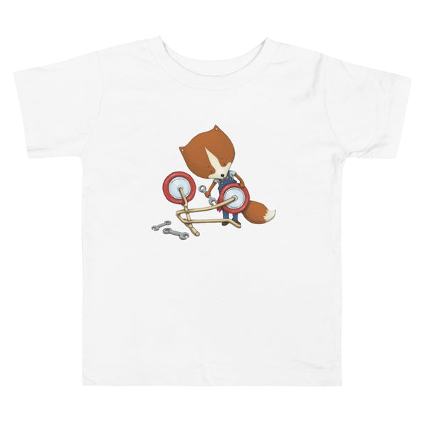 Brum Brum Bike Fox master Toddler Short Sleeve Tee