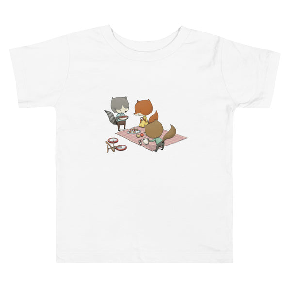 Brum Brum Bike Fox party Toddler Short Sleeve Tee