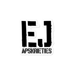 EJ APSKRIETIES Bubble-free stickers