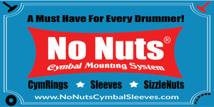No Nuts Cymbal Mounting System Sticker