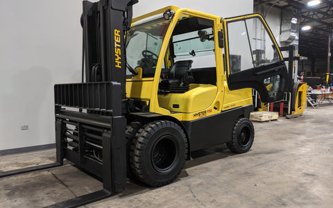 2011 HYSTER H110FT 11000LB DIESEL FORKLIFT PNEUMATIC 3 STAGE MAST SS/FP