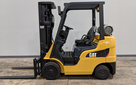 2014 CATERPILLAR 2C5000 5000LB LPG FORKLIFT CUSHION 3 STAGE MAST SS