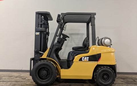 2011 CATERPILLAR 2P6000 6000LB LP GAS FORKLIFT PNEUMATIC 3 STAGE MAST SS