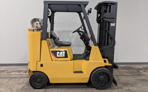2005 CATERPILLAR GC40K 8000LB LP GAS FORKLIFT CUSHION 3 STAGE MAST SS
