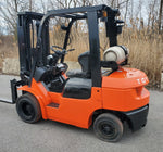2006 TOYOTA 7FGU25 5,000LB LP GAS FORKLIFT PNEUMATIC 3 STAGE MAST