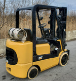 2008 CATERPILLAR GC25K 5,000 LB LPG FORKLIFT CUSHION 3 STAGE MAST SS