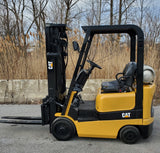 2008 CATERPILLAR GC15K 3,000 LB LPG FORKLIFT CUSHION 3 STAGE MAST SS