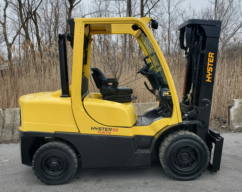2014 HYSTER H90FT 9,000 LB DIESEL PNUEMATIC 3 STAGE MAST SIDE SHIFT